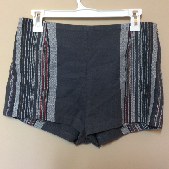 Free People Newman stripe high waisted shorts